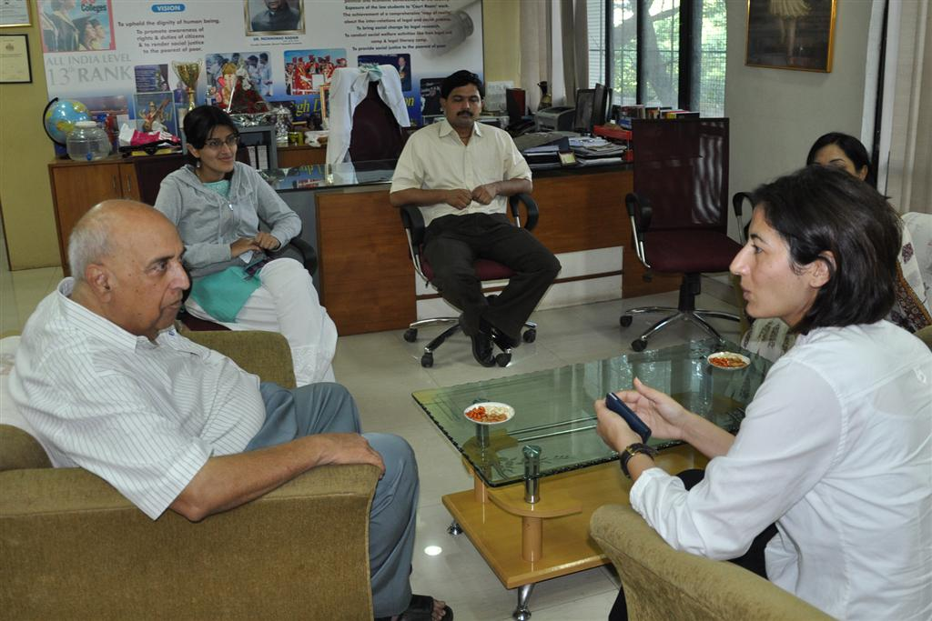 Mrs Sirin Nyles interacting with Faculty Team of New Law College
